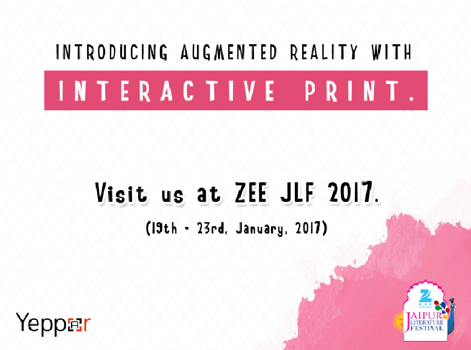Yeppar associated with ZEE Jaipur Literature Festival, 2017: where literature meets technology