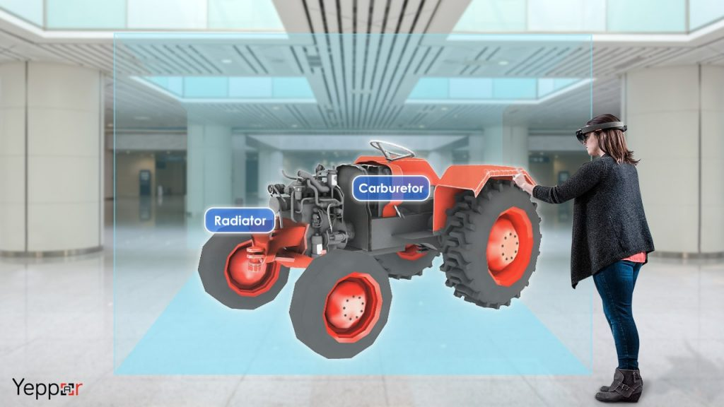 Microsoft Hololens Tractor