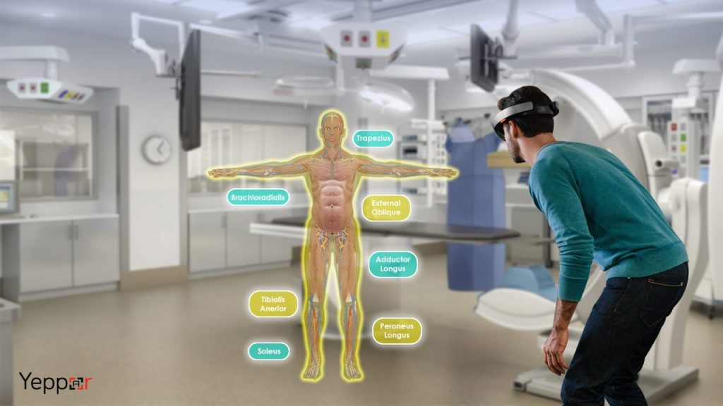 Microsoft Hololens for Human anatomy