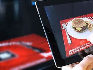 Augmented menu cards
